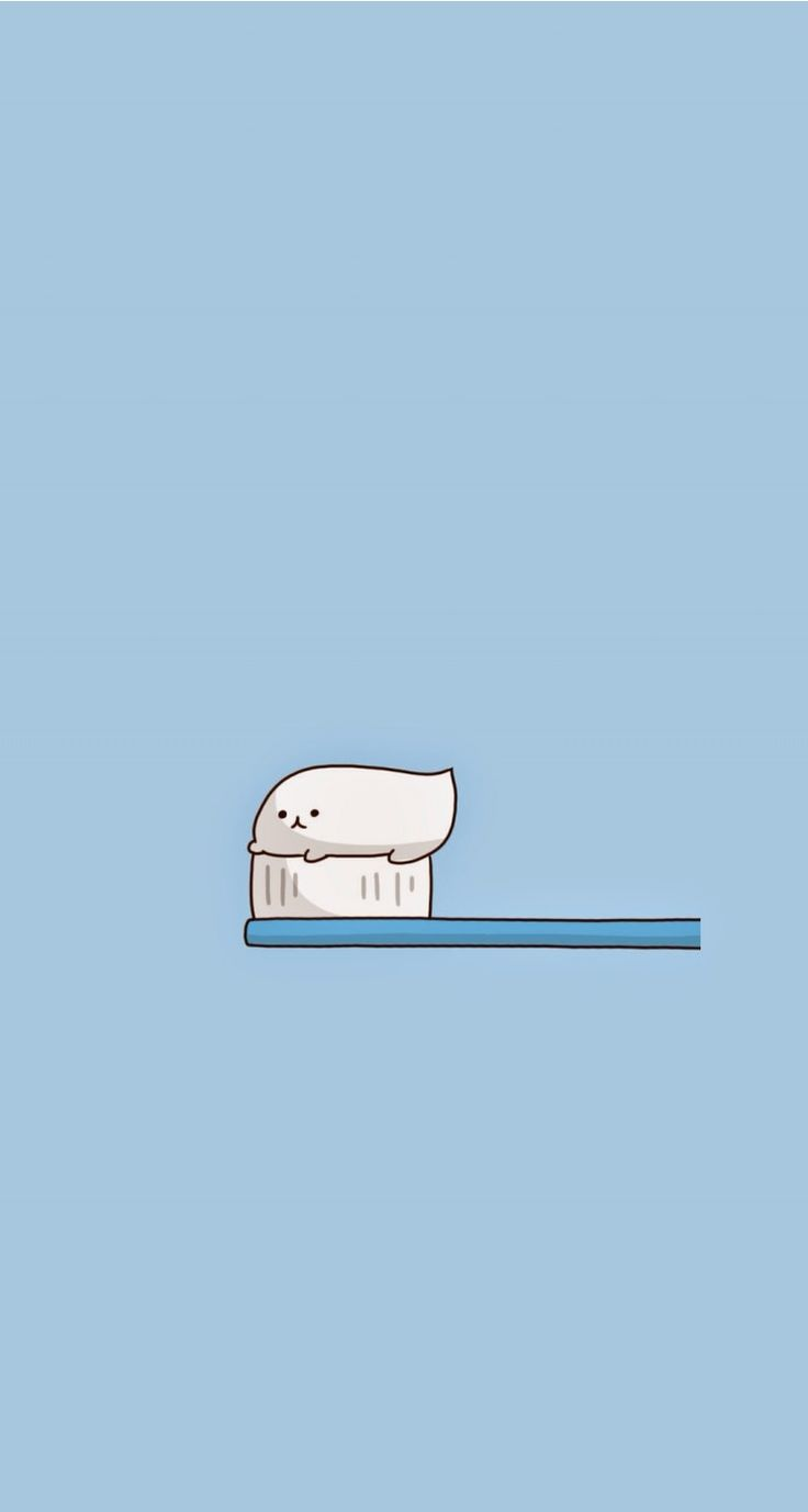 toothbrush. Tap for more Chibi Chii's Wallpapers! - @mobile9 | Wallpapers for iPhone 5/5S, iPhone 6 & 6 Plus #cartoon #cute #kawaii #art