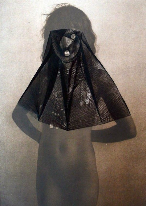 Maurizio Anzeri: embroidery on vintage photographs  #embroidery #photography #vintage #found #thread #haunting #graphic