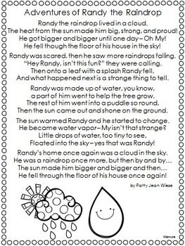 Worksheets Water Poems That Rhyme 25 best ideas about poems water on pinterest earth day cycle poem freebie kidsrcute