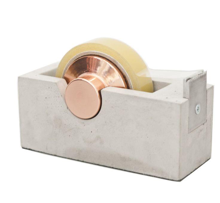 Akita Tape Dispenser, concrete, copper: Tatsuya Akita for Plant & Moss/Urbane Store