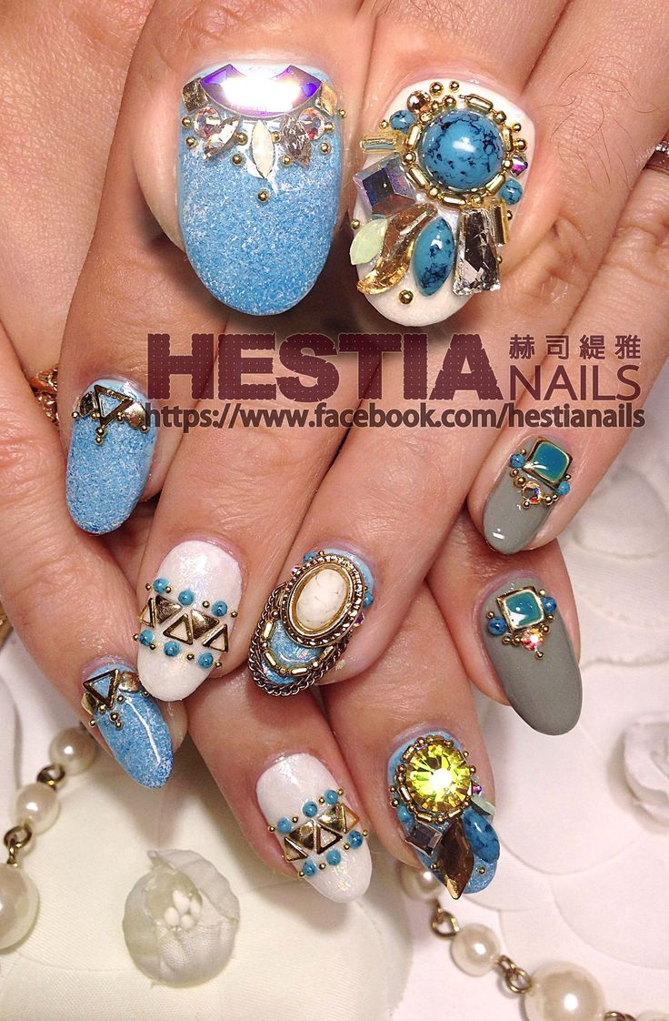 1286 best Nails images on Pinterest | Bling, Jewel and Nailart