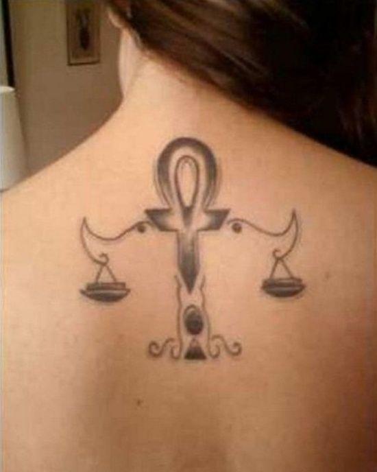 29 Tatouage du signe de la balance en astrologie - 26