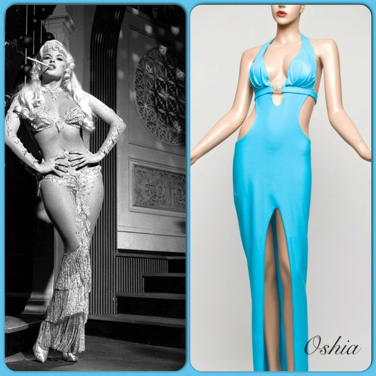 A sleek cut design, floor length gown with inverted tuck pleating over the bust and supportive under bust belt embellishment. The dress has a lowered back with waist shaped cut out feature, providing an hourglass silhouette that is highlighted with a very sexy Swarovski crystal clasp. The Ohisa is designed using a form fitting, shimmer spandex high quality fabric.