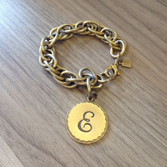 "Authentic John Wind ""E"" Initial Bracelet Up for sale is an authentic John Wind bracelet featuring the letter ""E"" initial. The bracelet is in perfect condition. John Wind Jewelry Bracelets"
