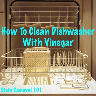 Clean your dishwasher with one ingredient -- vinegar. {instructions and video on Stain Removal 101}