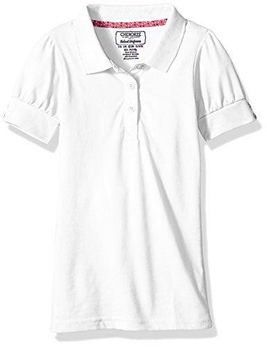 8a5e1ad1 Cherokee Girls Uniform Short Sleeve Polo Rhinestones | Fashion Girls ...
