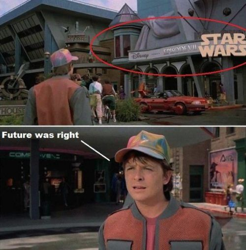 This is the coolest thing. From Back to the Future 2. Where they visit 2015. Mind Blown!!