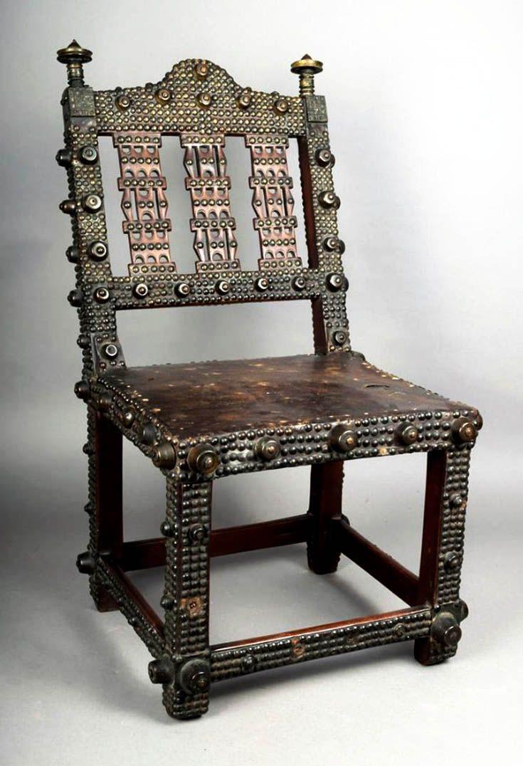 Africa Chair from the Sahanti people of Ghana Wood