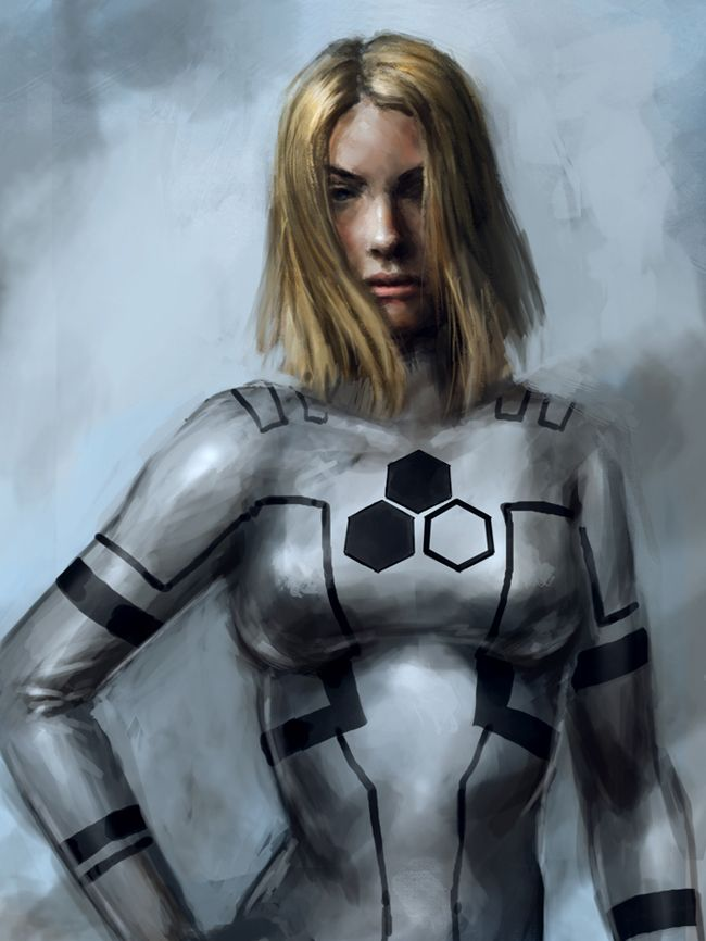 I am going to be Sue Storm for Halloween.