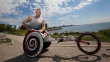 Training on city streets (such as Toronto's Lake Shore Boulevard) and country roads, on highschool tracks and in the weight room, Josh Cassidy has used his hands to work himself into the best shape of his career. (Deborah Baic/The Globe and Mail)