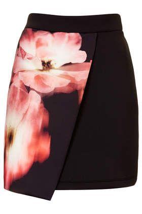 Floral Scuba Wrap Skirt- Topshop