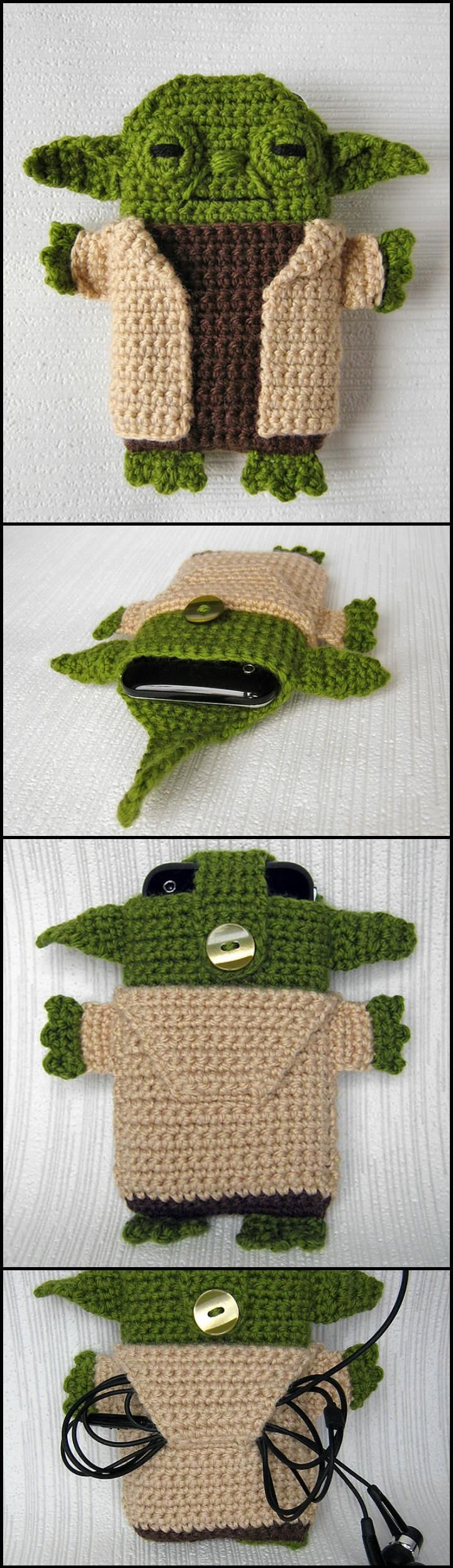 Lovely Crochet Star Wars Yoda iPhone Case - 50 Free Crochet Phone Case Patterns - Page 3 of 5 - DIY & Crafts