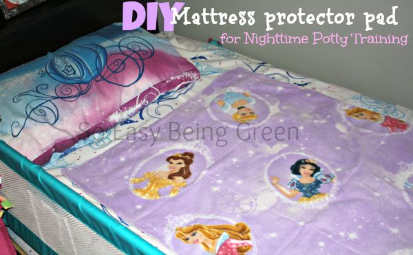 Nighttime Potty Training - DIY Mattress Protector Pad Cover to keep sheets and child dry! Tutorial