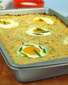 """Zapiekanka """"trzy w jednym"""" z kalafiora, ziemniaków i jajek: Pyszna, lekka zapiekanka, która ma w sobie wszystko, co trzeba - mnóstwo warzyw,..."""