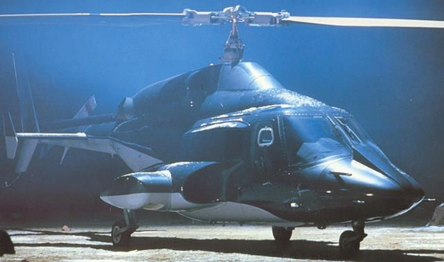 The modified Bell 222 Helicopter used in the TV series Airwolf from 1984 to 1987.