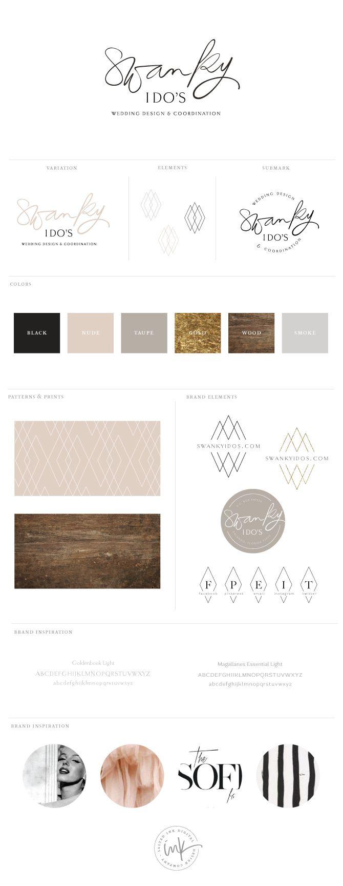Brand Launch: Swanky I Do's by Salted Ink | #brand #branding #logo | www.saltedink.com