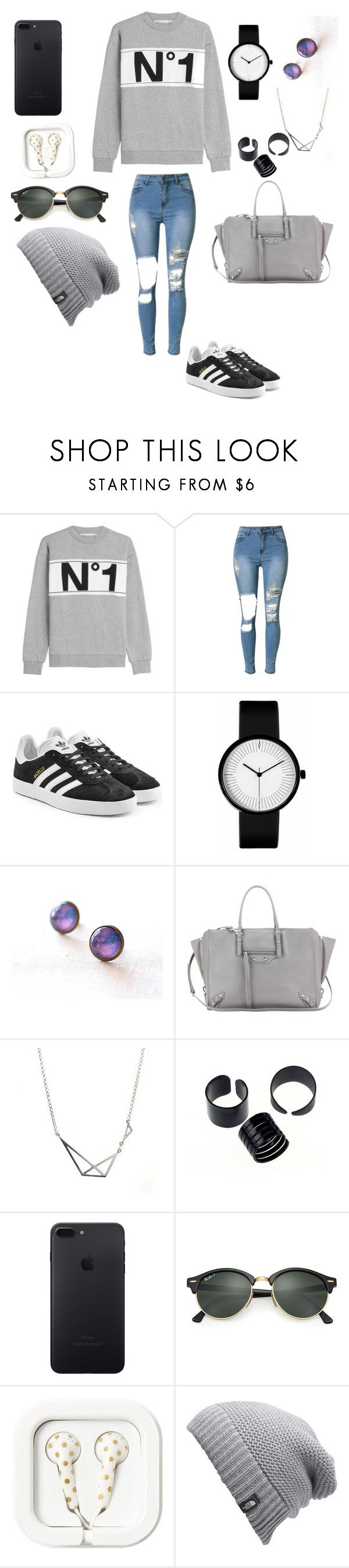 """""""Untitled #373"""" by shoialshammeri ❤ liked on Polyvore featuring Être Cécile, adidas Originals, Balenciaga, Ray-Ban and The North Face"""