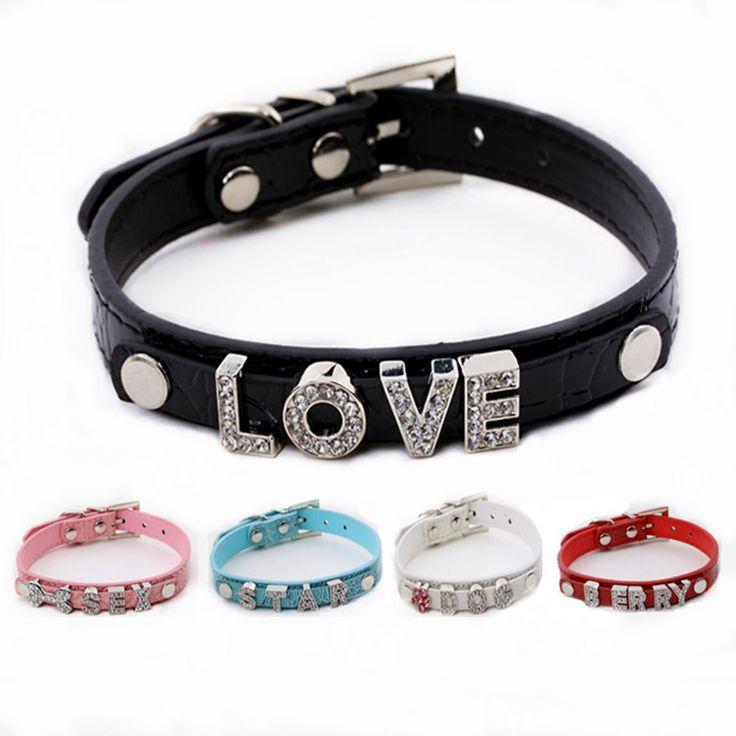 Dog Collar Bling Crystal leather Pet Collar Puppy Choker Cat Necklace Rhinestone Leather Dog Collars Dogs Accessories S M L