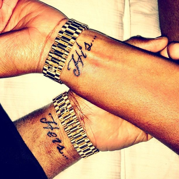 His & Hers....yeah, my husband better like tattoos. :)