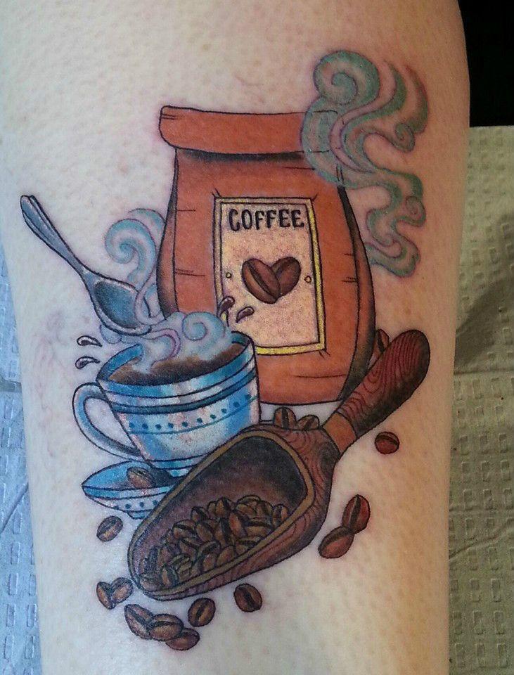 Great tattoo coffee | Coffee tattoos, Coffee illustration ...