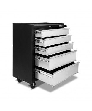 5 Drawers Toolbox - Black Grey