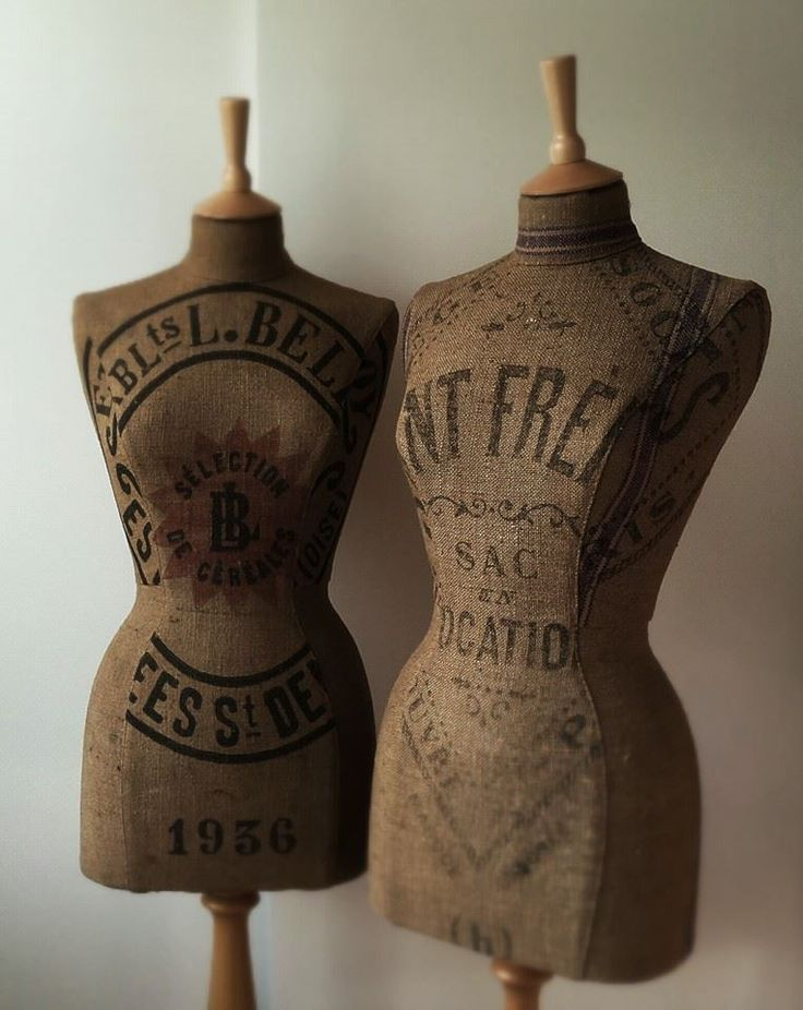 fabulous vintage French grain sack mannequins