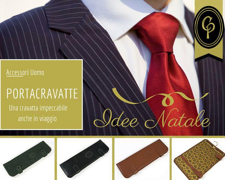 """SEMPRE CRAVATTE?  La #cravatta è un grande classico dei #regali per l'uomo: certo molte volte si va a colpo sicuro... ma perché non cambiare un po'?  Un #portacravatte #CepiPelletterie è un regalo simpatico, utile e di classe perfetto, per chi indossa questo accessorio... ma è stanco di ricevere in regalo """"sempre cravatte""""! #Natale #accessori #uomo #gentleman #IdeaRegalo #moda"""