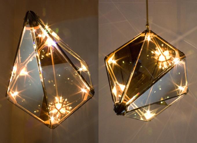 Such A Beautiful Lamp! Geometric Light By Bec Brittain   Via Design Sponge