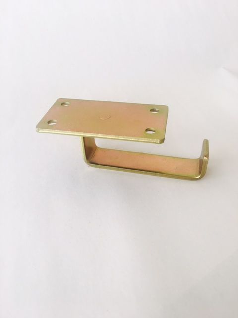 Under table, bar and desk top swivel permanently affixed purse hook in BRASS - www.humphooks.com