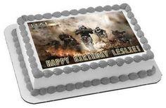 HALO REACH 2 Edible Birthday Cake Topper OR Cupcake Topper, Decor