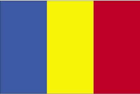 The Romanian Flag:  Yellow - symbolizes generosity  Red - hardiness, bravery, strength and valour  Blue - vigilance, truth and loyalty, perseverance and justice.    this form of the Romanian flag was adopted on December 27, 1989. Before this the Romanian flag contained a coat of arms in the center yellow band. (via G.V.)