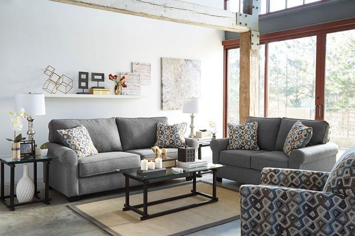 El aspecto clásico y moderno de nuestro living #Nalini nos sorprende con su tapicería retro de tonos suaves y sicodélicos   #AshleyFurnitureHomeStore #estilo #muebles #accesorios #decoración   ---  6110320 Chair 6110335 Loveseat