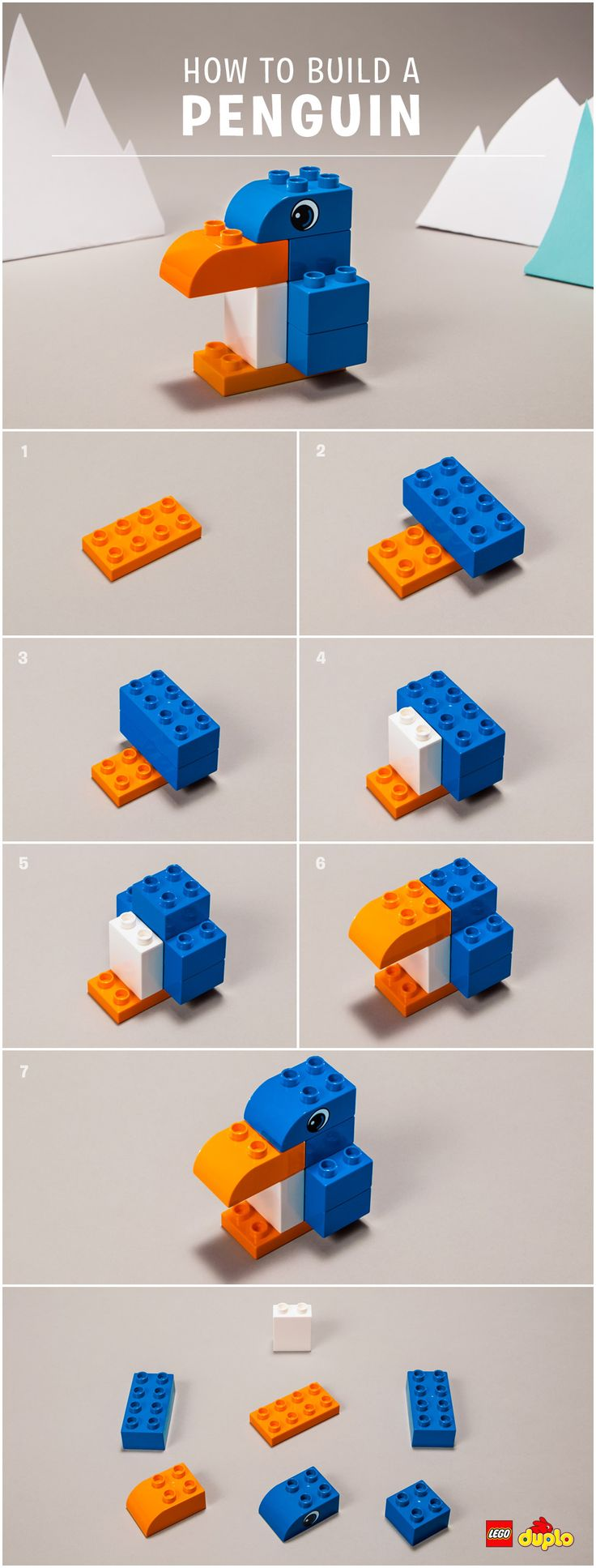 Penguins are amazing! And can help brighten up a grey November day - why not help your toddler create their very own waddling friend? Check out our building instructions here: https://www.lego.com/en-us/family/articles/diy-penguin-729671936bea421a8ba470e51af11210?ignorereferer=true