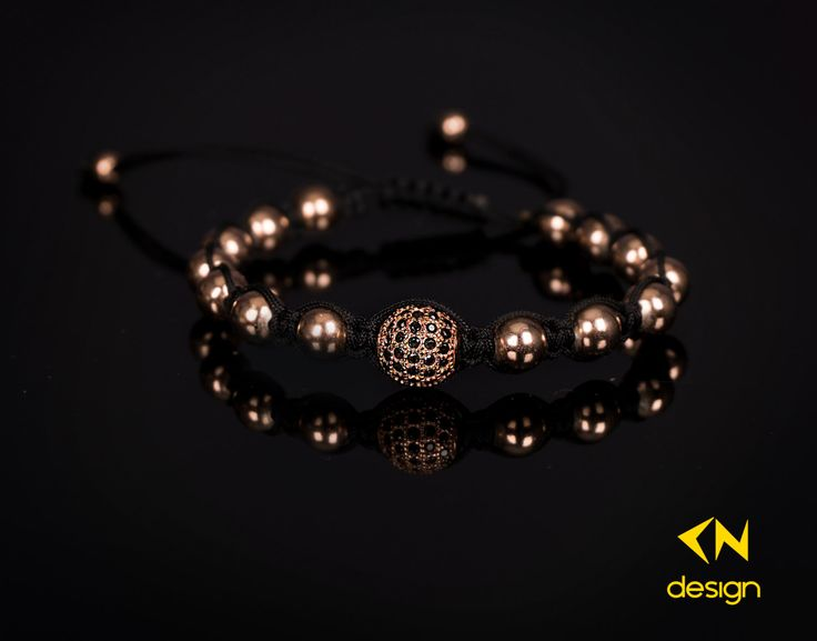 Rose Gold Plated Sterling Silver Diamonds Ball Macrame Bracelet by Cndesignofficial on Etsy https://www.etsy.com/listing/260553324/rose-gold-plated-sterling-silver