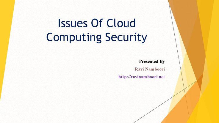 Cloud Computing Security Risks RaviNamboori