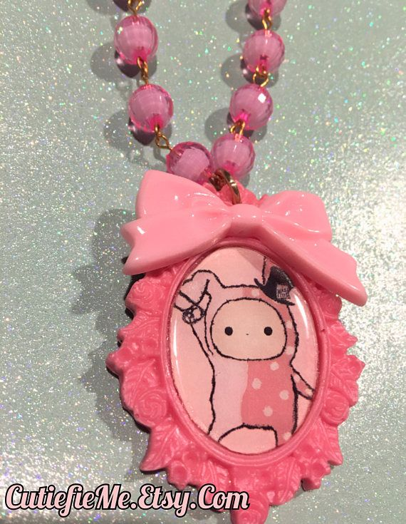 Sentimental Circus Shappo The Rabbit Pink Pendant With Bow