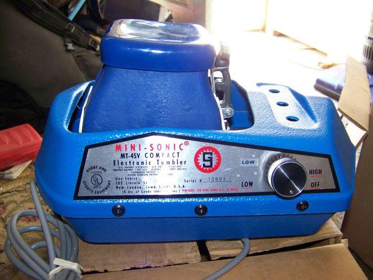 Geo sonics vibratory tumbler mini sonic mt4sv compact new