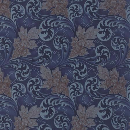 Blue Barn Prints Midnight 42271 12 Dark Blue Florals