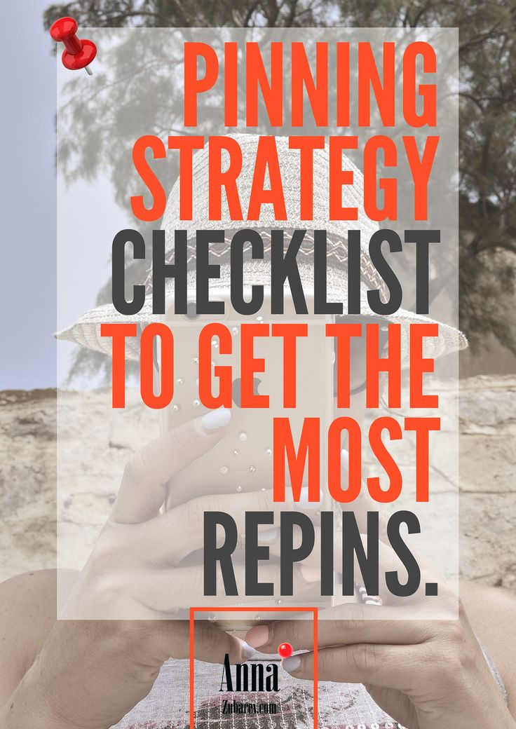 Pinning Strategy Checklist To Get The Most RePins. via @Anna Zubarev | Pinterest Expert