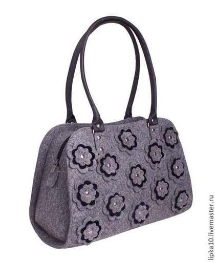 Handbag Beauty Tote Bag in Grey, Diaper bag, Women Tote Bag, Bags and purses, Grey Bag, Shoulder Bag, Messenger Bag