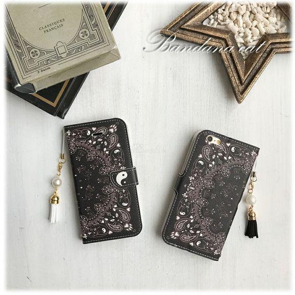 ご覧くださいましてありがとうございますiphoneケース、スマホケース各種お出ししておりますギャラリーはこちらから▶ https://www.creema.jp/c/Amelie_shop101iphone5/5s/SEiphone6/6siphone7iphone6plus/6splusiphone7plusの対応となっております。ご希望機種をお選びくださいませ。沢山の猫が隠れたバンダナパターンです♡タッセルのお色は黒、グレー、(その他ご希望のお色がございましたらお問い合わせください)記載が無ければこちらでお選び致します。・ストラップホールは上下に2つ・スタンドタイプ・カードケース3 内側ポケット1(iphone5/5s/SEサイズはカードケース2つの仕様です)・中はソフトケースですので着脱も安心です・閉じたまま通話可能なホール付き通常のプリントケースとは異なり柔らかい高級PUレザーを使用しております◆フラッシュ撮影する場合は、ケースから外してご使用いただきますようお願いいたし...