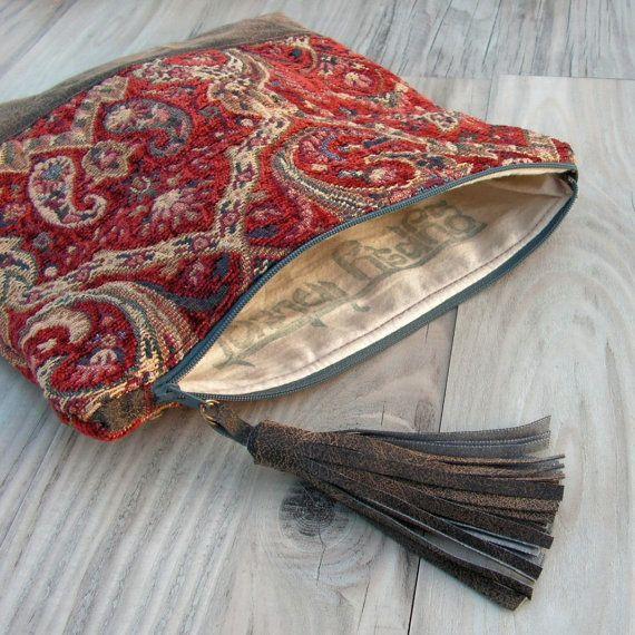 Bolsa de rollo alfombra en rojo y azul con Base de por GypsyIntent