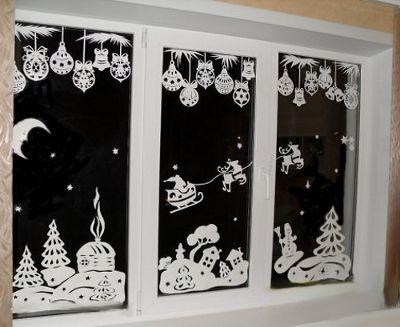 Новогоднее окно. Как украсить окно на Новый год. Украшаем окна на Новый год. Украсить окно к Новому году. Новогоднее оформление.