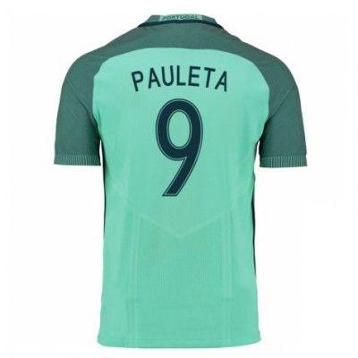 Portugal 2016 Pauleta 9 Udebane Trøje Kortærmet.  http://www.fodboldsports.com/portugal-2016-pauleta-9-udebane-troje-kortermet.  #fodboldtrøjer