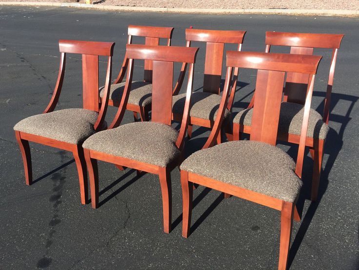 Ethan Allen Set Of 6 Dining Room Chairs 25 6400 BAN814