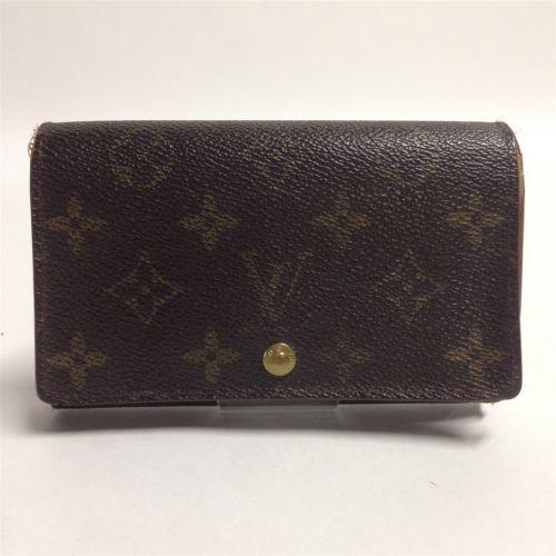 Auth Louis Vuitton Monogram Bifold Wallet Porte Monnaie Billets T..(b16003975)