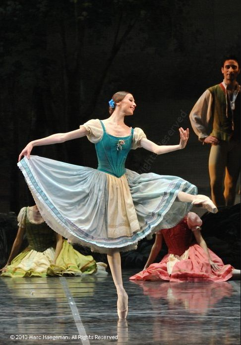 Svetlana Zakharova as Giselle in Rome's Teatro dell' Opera production of Giselle    photo © 2013 by Marc Haegeman
