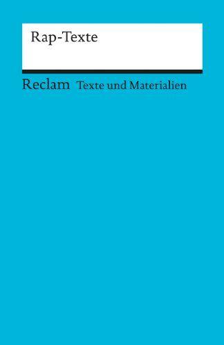 Rap-Texte: Für die Sekundarstufe Texte und Materialien für den Unterricht: Amazon.de: Sascha Verlan: Bücher