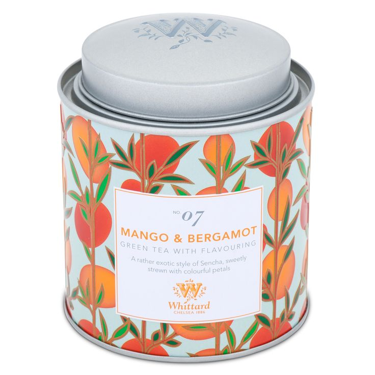 Buy the Tea Discoveries Mango & Bergamot Caddy Whittard of Chelsea, specialists in fine tea, coffee and cocoa. Part of our range of luxury Fruit & Herbal Tea available online.