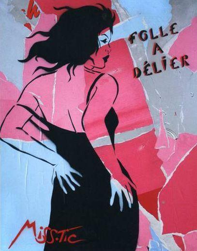 #streetart #misstic  Miss Tic : pochoirs et graffitis, l'art de la rue